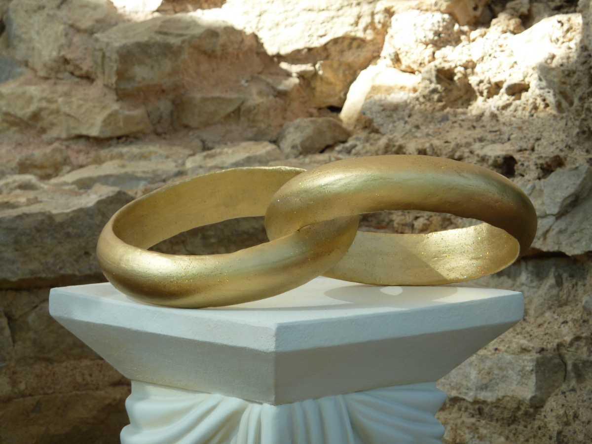 Skulptur mit Eheringen