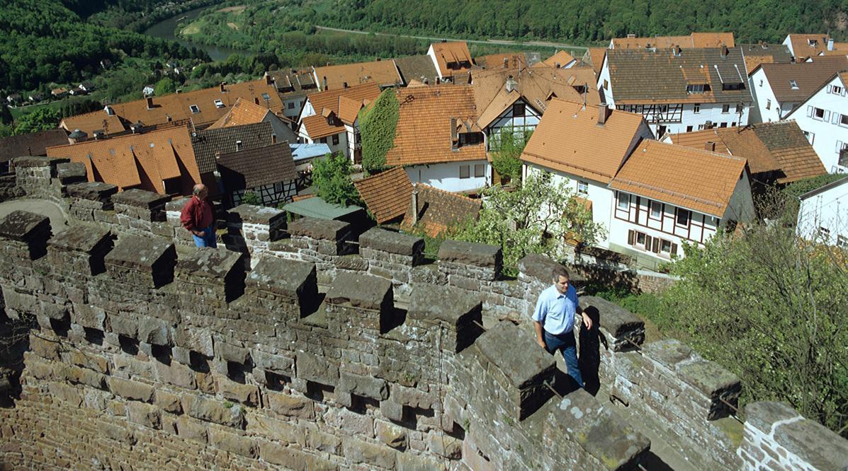 Blick auf die Stadt und ins Neckartal; Foto: Schlösser und Gärten Baden-Württemberg, Steffen Hauswirth