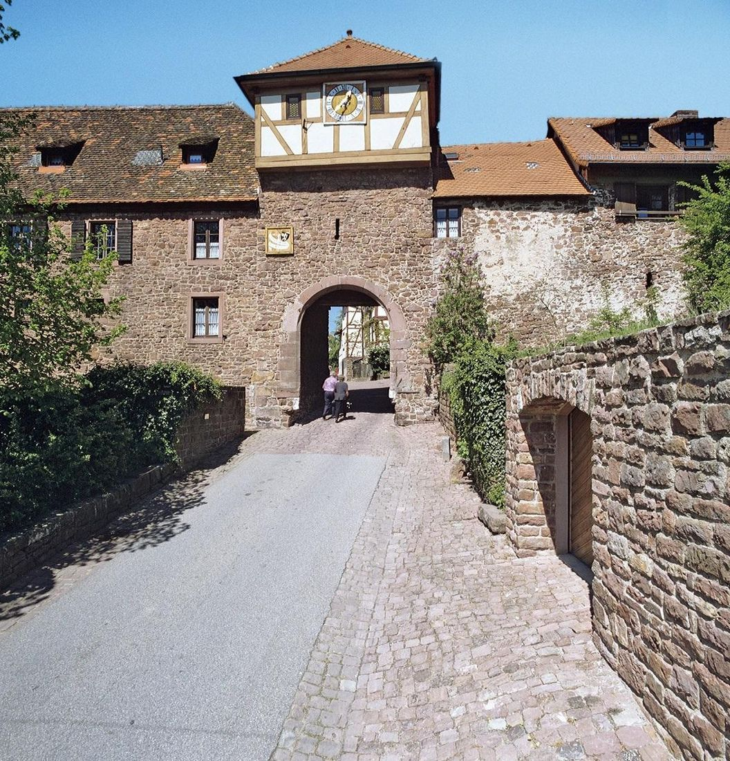 Dilsberg Fortress Ruins, town gate