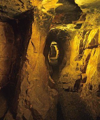 """The """"Brunnenstollen"""" passageway of Dilsberg Fortress Ruins"""