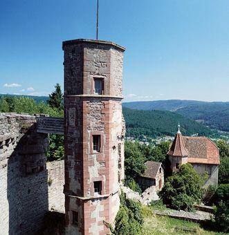 Außenaufnahme Burgfeste Dilsberg